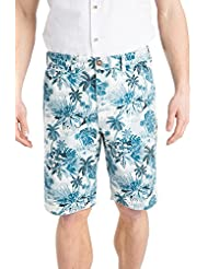 Threadbare Hawaii Men's All Over Print-Short en coton