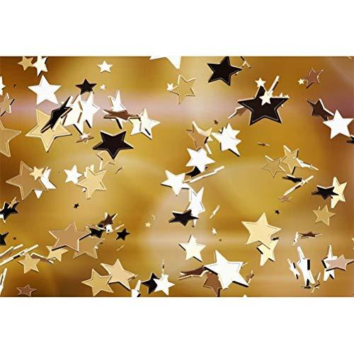 EdCott 8 x 6,5 ft Geburtstag Fotografie Hintergrund verstreut glänzend goldenen Sternen Dekoration Hintergrund Kind Erwachsene Geburtstag Party Banner persönliches Porträt schießen Studio