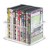 MetroDecor mDesign stapelbare DVD Aufbewahrungsbox für DVDs -– auch für Videospiele, Blu Ray, Puzzle und Bausteine – klein/durchsichtig