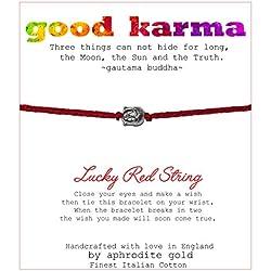 Buen Karma Buda Lucky rojo cuerda pulsera de la amistad