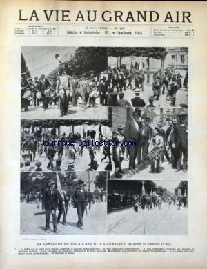 VIE AU GRAND AIR (LA) [No 90] du 03/06/1900 - LE CONCOURS DE TIR A L'ARC ET A L'ARBALETE - par Collectif