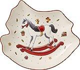 Villeroy & Boch Toy's Delight Schale in Schaukelpferd-Form, Premium Porzellan, Weiß/Rot