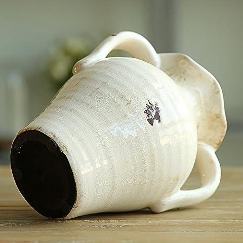 Vasi in ceramica bianca orecchie retrò vasi