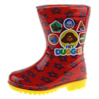 Hey Duggee Boys Wellington Boots Red