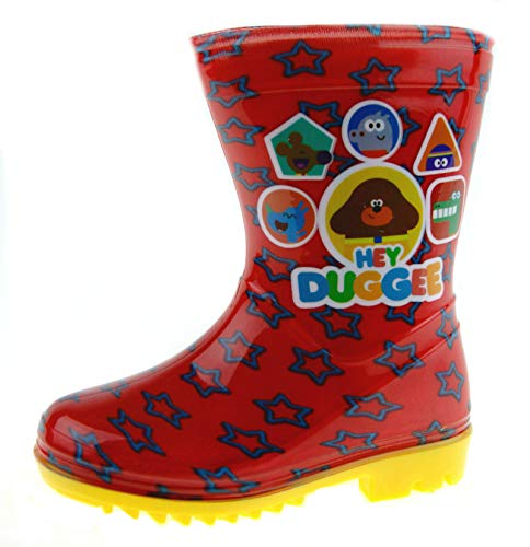 Lora Dora Hey Duggee Boys Wellington Boots Red