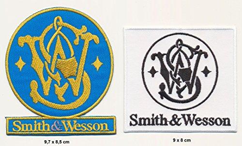 smith-wesson-ecusson-thermocollant-patch-lot-de-2-fusils-pistolets-armes-turbo-livraison