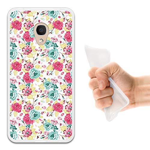 WoowCase Alcatel 1C DUAL SIM Hülle, Handyhülle Silikon für [ Alcatel 1C DUAL SIM ] Multifarbige Blumen Handytasche Handy Cover Case Schutzhülle Flexible TPU - Transparent