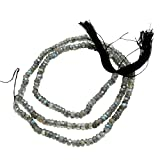 Silvestoo India Labradorite 4 mm Roundel Micro Faceted Beades Strings PG-107101