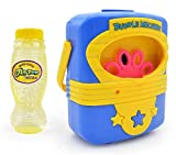 #9: Toys Bhoomi Portable Super Fun Electric Automatic Bubble Blowing Machine with 118ml Refill - Non Toxic