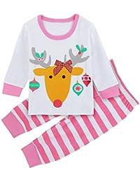 Mombebe Infantil Pijama Niña Reno Ropa de Dormir