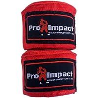 """Pro impacto/boxeo Handwraps 180""""Mexican estilo elástico rojo"""