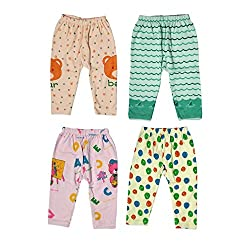 Guchu 100% Hosiery Cotton Baby Pyjama for Baby Boy, set of 4(F2-PJ-Bx4-75_Multi_75)