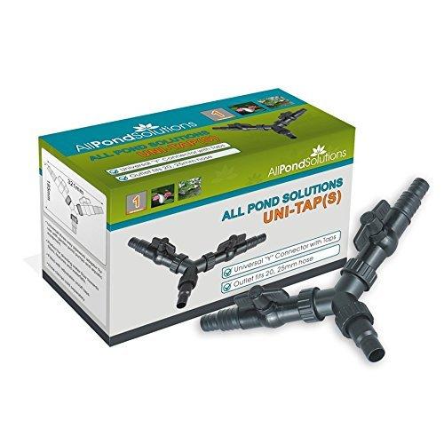 All Pond Solutions Uni Wasserhahn 3Way Y Verteiler Teichschlauch rohrbearbeitungsgeräten Adapter-Anschluss, klein