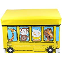 Puff- arcón plegable infantil autobús 31x48x31 cm