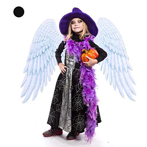 Dress Angel Kostüm Up - Allowevt Halloween Kostüm Capes Angel Wings Dress Up Kinder Grau Weiß Cosplay Flügel mit elastischen Schultergurten Junge Mädchen Kind Dekoration