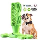 Lsnisni Spazzolini per Cani, Massaggiatore per la Pulizia dei Denti dei Cani, Giocattolo da Masticare per Animali Domestici, Gomma Non tossica Naturale, FDA (Verde)