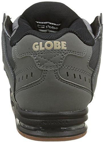 Globe Sabre, Scarpe da Skateboard Uomo Nero (Charcoal/Black/Gum)