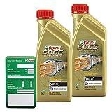 2x 1 L = 2 Liter Castrol EDGE Titanium FST™ Turbo Diesel 5W-40 Motor-Öl Motoren-Öl inkl. Castrol Ölwechsel-Anhänger; Spezifikationen/Freigaben: ACEA C3; API SN/CF; VW 502 00/ 505 00 / 505 01; BMW Long