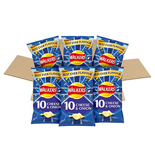 Walkers Best Ever Flavour Cheese and Onion Multipack Crisps Box (60 Single Bags)