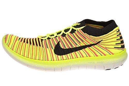 Nike WMNS Free RN Motion FLYKNIT OC Gelb/Pink (40) (Damen Nike Gelb Flyknit)