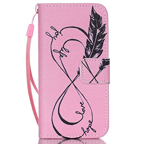 Nutbro iPhone 5C Case, iPhone 5C Wallet Case, 5C Case, PU Leather Wallet [Stand Feature] with Built-in Credit Card Slots Wallet Case for iPhone 5C 16