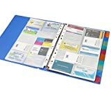 #9: Solo BC- 807 Business Cards Holder - 500 Cards (with indexes) A4 - Blue