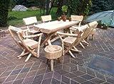 RUSTIKALE SITZGARNITUR AUS NADELHOLZ / Deutsche Handwerksqualität / Sitzkapazität für 6 Personen / incl. 2 Beistellhocker / Jede Sitzgruppe ist ein Unikat