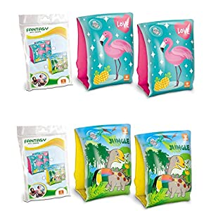 Mondo Toys- Pack 2 Brazaletes Hinchables para Playa y Natación, (MD-16707)