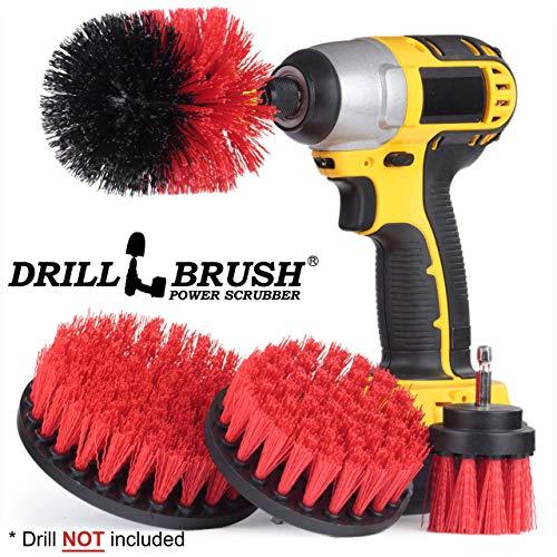 Drillbrush Stiff Trapano Setola in nylon a batteria alimentata filatura pennello Heavy Duty Scrubbing 4 corredo della spazzo