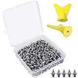 kulannder 150 Stück Spike-Nägel 1/4 Zoll Spikes Ersatz Ersatz-Dornen mit 2 Stück Spike Wrench und Aufbewahrungsbox für Leichtathletik-Spikes