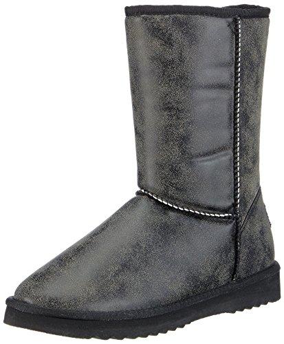 ESPRIT Uma Vint Boot, Stivaletti a gamba media senza chiusura, imbottitura pesante donna, Nero (Nero (001 Black)), 42