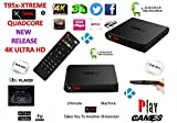 Android Tv Box Fully Xtreme 2018 tv box KODI 17.6 ultimate machine takes you to another dimension 4X CPU Marshmellow 6.0 AMLOGIC s905 cortex A53 64BIT 2Ghz Wifi 4K UHD H.265 Lan smart tv box quad core 8GB 2GB ULTRA HD Ethernet port, wifi play games movies