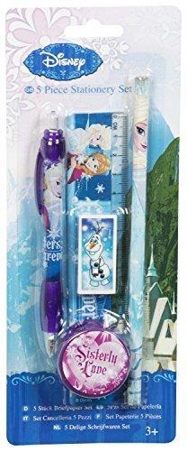 Disney Frozen Die Eiskönigin 5 tlg. Schreibset Kugelschreiber / Bleistift / Lineal / Radiergummi /...