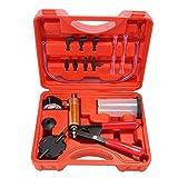 GreatFun Bremsentlüftungs-Kit, Auto-Handvakuumdruckpumpen-Testersatz mit Adaptern, Bremsflüssigkeitsentlüftungs-Entlüftungswerkzeugsatz