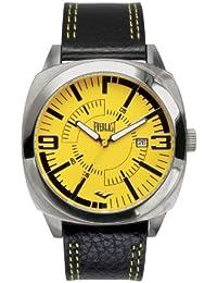 Bernex EV-219-004 - Reloj analógico para caballero de cuero amarillo