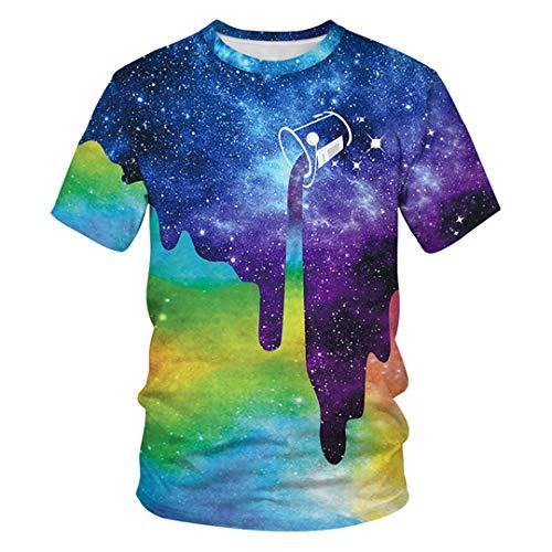 Männer T Shirt Casual Kurzarm Oansatz Mode T-Shirt Plus Size Lustige Coole Streetwear Tops 1 3XL -