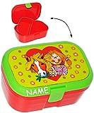 Lunchbox / Brotdose - ' mein Ponyhof - Pferd mit Herz ' - incl. Name - mit extra Einsatz / herausnehmbaren Fach - Brotbüchse Küche Essen - für Mädchen & Jungen - Blumen & Blüten - Pferde Ponys / Pferdemotiv - Kinder Vesperdose - Brotzeitdose / Fächer / Trennwand - Fächern - Brotzeitbox - Brotzeit Tasche - Vesperbrotdose