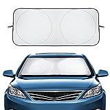 Audew Auto Sonnenschutz Frontscheibe Windschutzscheibe ungifte Cordura Material Schutz für Armaturen
