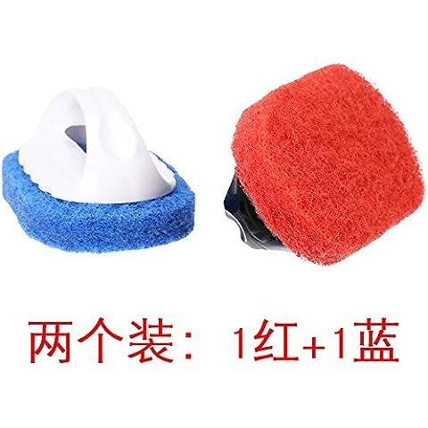 Le spazzole per la pulizia delle spazzole di pulizia cucina pavimento spazzole Spazzole spazzole da bagno piastrelle suola spazzola ispessimento del manico della spazzola Pot 1 Blu Rosso