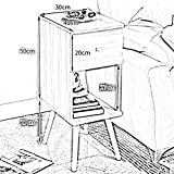SED Multifunktions-Kleiner Tisch Haushalt Nachttisch Side End Wohnzimmer Schrank mit 1 Schublade Schlafzimmer Einfache Study Table,Kaffeefarbe