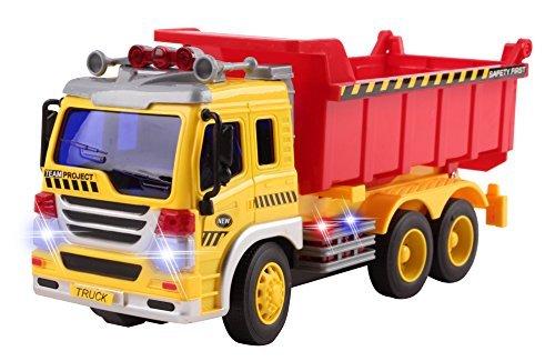 Vokodo Fernbedienung Muldenkipper BAU RC Truck 1.16 Vier-Kanal Full Function w / Beleuchtung Batteriebetriebene RC Truck Spielzeug