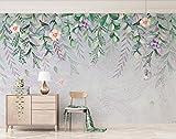Fototapete Vlies Tapete 3D wallpaper Wanddeko Design Moderne Anpassbare Wandbilder Frische Pflanzen Handgemalten Aquarell Blumen Skandinavischen Tv Hintergrund Wand