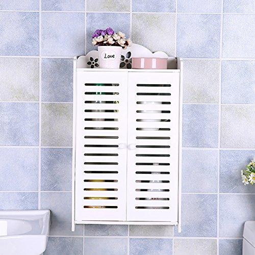 Wandmontage Einfache Kosmetik / Make-up Oragnizer / Koffer WC-Tisch-Aufbewahrungs-Rack-Container Doppel-Tür ( größe : 60 )