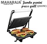 Maharaja 4 Slice Steel Body Electronic Jumbo Griller for Sandwiches, paninis, Chicken