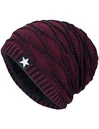 86b84342d4653 Hombres Cozy Invierno Gorra de Punto tartán Beanie Universal Cálido de  Punto de esquí Beanie Hat