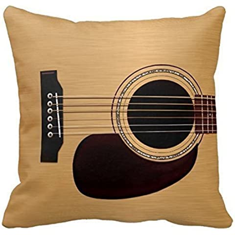Spruce Top Acoustic Guitar Throw Pillows Custom Throw Pillow Case Personalized Cushion Cover Pillowcase Square Pillow Cover 16x16