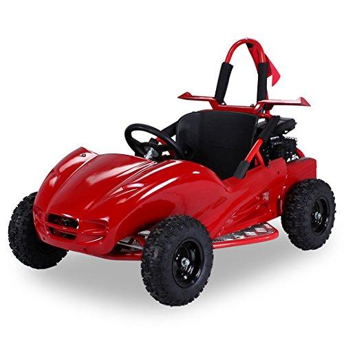 Kinder GoKart Kinderbuggy SQ80GK-2 80cc Buggy mit Verkleidung Fiberglas rot
