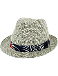 Ladies Fashion Straw Summer Hat with faux leather band Cowgirl MS16N Western