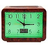 Luminous Alarm Clock Motif Bulbs Grain, Easy Reading, Day and Night–Temperature Display