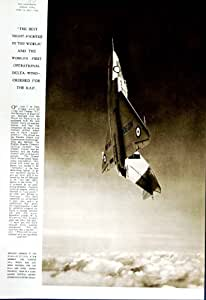 1952 BOMBARDIER OPÉRATIONNEL DE GLOSTER G.A-5 DELTA-WING R.A.F